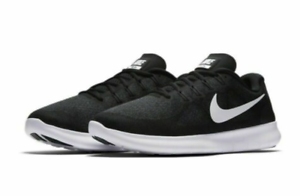 33fbb9293ada Nike Free RN 2017 Running Shoes Black White 880839-001 Men s NWOB