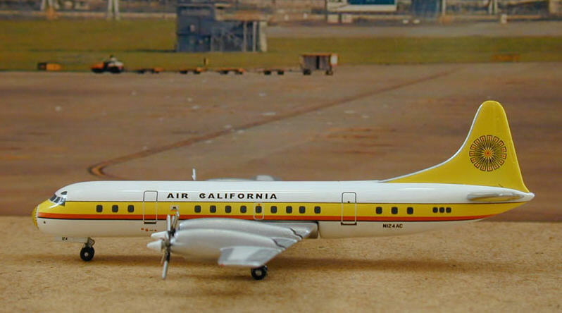 Air California  L-188A (N124AC), Green Box, RARE    d7c848