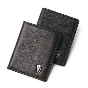 Genuine-Leather-New-Mens-Wallet-Small-ID-Card-Holder-Bifold-Cowhide-Slim-Purse