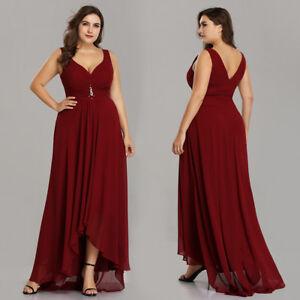 dd4ef50c94eba Ever-Pretty US Plus Size Bridesmaid Dresses Chiffon High-low Evening ...