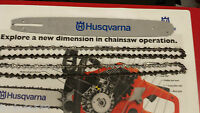 18 Chainsaw Bar And 2 Chains Husqvarna 435;445;450;350;others