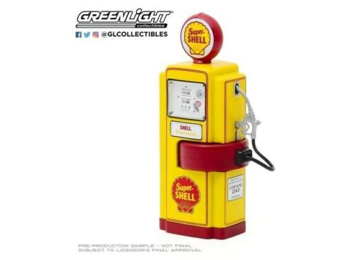 Super Shell Gas Pump 1948 Wayne Replica Vintage Pompe à essence 1:18 Greenlight