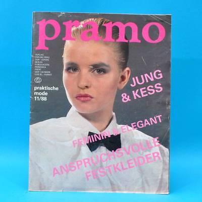 Ddr Pramo 11/1988 Praktische Mode Schnittmuster N Jugendmode Festmodelle Disco