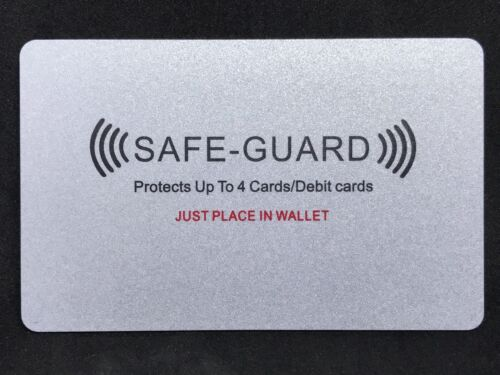 2 Cards Included 2x Safe Guard®️RFID Credit//Debit Card Wireless Illegal Blocker