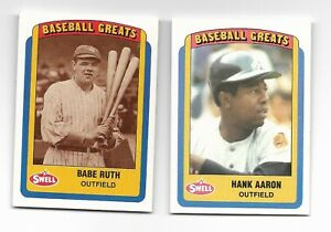 61cfc02d7 Image is loading Babe-Ruth-and-Hank-Aaron-Philadelphia-Chewing-Gum-