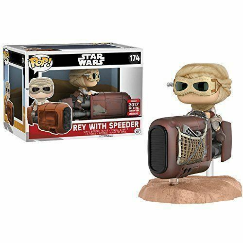 Funko POP 174 Rey with Speeder Galactic Convention -Star Wars NEW!!!