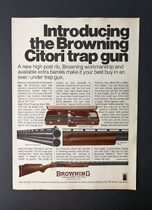 Details about Vintage 1977 Browning Citori Trap Gun Full Page Original  Color Ad