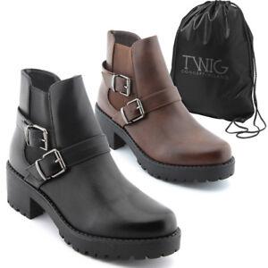 Botas-mujer-TWIG-T287-botines-zapatos-calzado-negro-marron