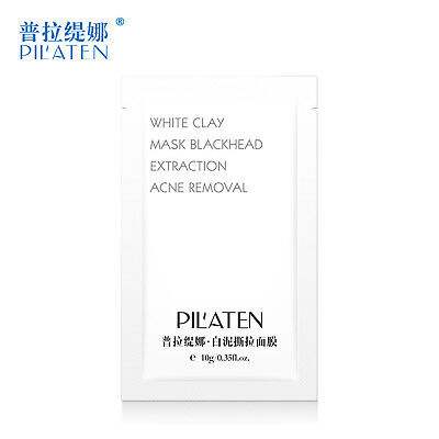 Pilaten 10/25/50 PCS White Clay Peel-Off Mask Blackhead Acne Removal 10g