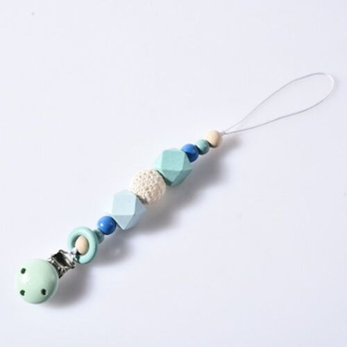 Chain Holder Bead Gift Silicone Dummy Pacifier Clip Teething For Baby Chew