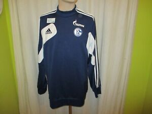 FC-Schalke-04-Original-Adidas-Spieler-Sweatshirt-Pullover-2013-14-034-Gazprom-034-Gr-L
