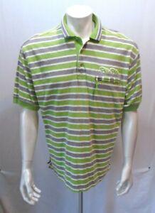 6eed0ce461e99 Pelle Pelle Marc Buchanan Green Gray Striped Zip Pocket Men s Polo ...
