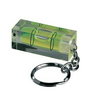 Mini green acrylic spirit level key ring key chain tool gadget novelty gift VAU