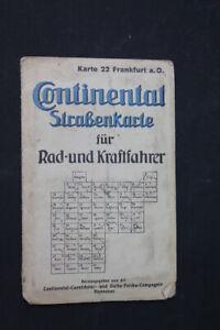 alte-Karte-Strassenkarte-Fahrrad-Rad-Karte-old-vintage-Sammler-Frankfurt-aO