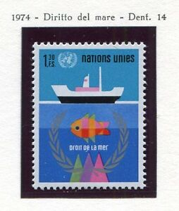 19533-UNITED-NATIONS-Geneve-1974-MNH-Nuovi-Sea