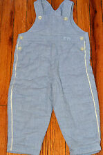 Authentic Baby Dior Infant Boy's Winter Overall Blue Padded Winter Pants (2T)