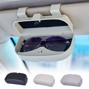 Estuche De Gafas De Coche Estuche Universal De Gafas De Sol Delanteras para Coche Caja De Almacenamiento Soporte De Gafas Pieza De Repuesto Gray