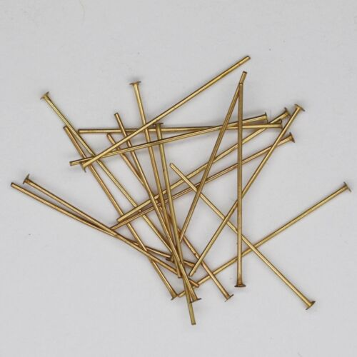 25mm Headpins Earring Bead Pins Fine Gauge Goldtone Pack of 200 1/""