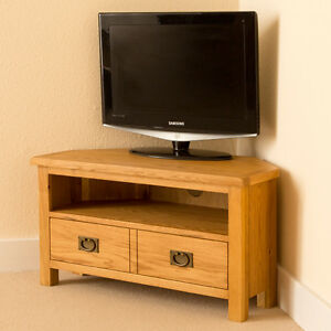Lanner-Oak-Corner-TV-Unit-Media-Stand-Rustic-Oak-Waxed-Handcrafted-Cabinet