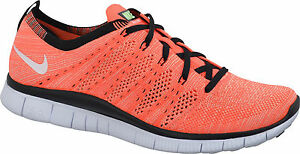 568bc980b66f NEW MEN S NIKE FREE FLYKNIT NSW RUNNING SHOES HOT LAVA 599459 800 SZ ...