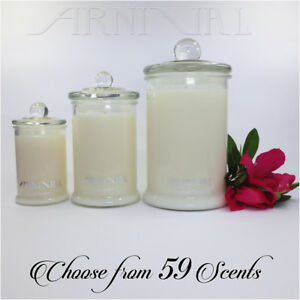 HIGHLY-SCENTED-100-NATURAL-SOY-WAX-CANDLE-30-55-110-hour-burn-GLASS-JAR-CANDLES