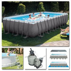 intex komplettset frame pool 732x366x132cm sandfilteranlage swimmingpool ebay. Black Bedroom Furniture Sets. Home Design Ideas