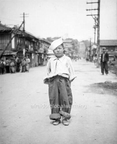 Old Photo Korean Orphan Boy Adopted By US Troops Korean War