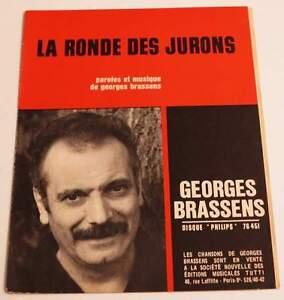 Partition sheet music GEORGES BRASSENS : La Ronde des Jurons * 50's - France - Type: Partition Genre musical: Chanson, Variété franaise Instrument: Chant, Piano Artiste: GEORGES BRASSENS - France