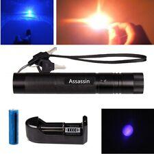 900miles Blue Purple Laser Pointer Pen Rechargeable Lazer Light Astronomy 1 Mw