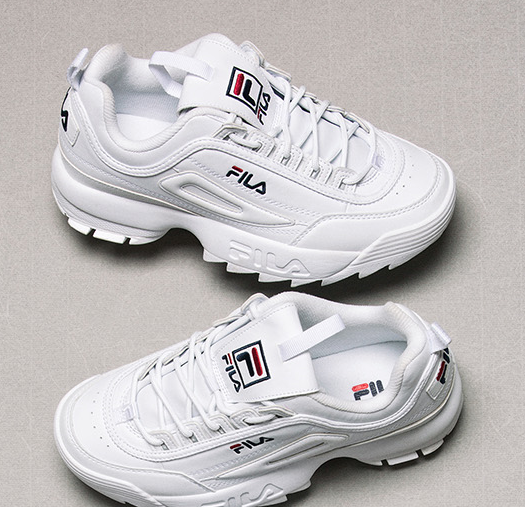 Fila 2018SS Disruptor II 2 Blanc FS1HTZ3071X Unisexe Chaussures US Taille 4-11