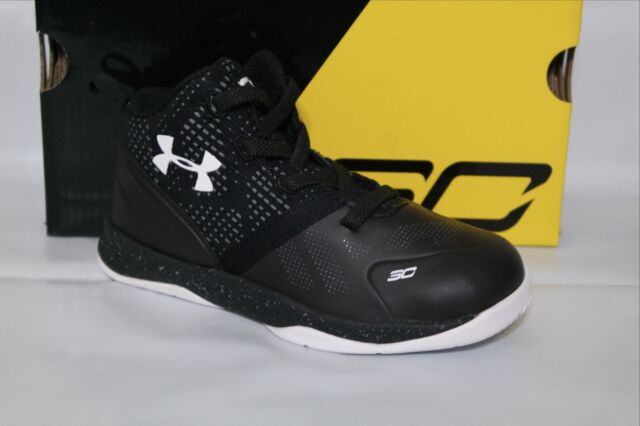 UNDER ARMOUR UA B INF CURRY 2 BASKETBALL BOYS SHOE,SIZE 6k /&8k,BLACK 1286153-001