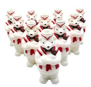 10 Coca Cola Polar Bear Christmas String Light REPLACEMENT COVERS ONLY Coke