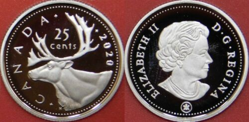 Proof 2020 Canada 25 Cents From Mint/'s Set