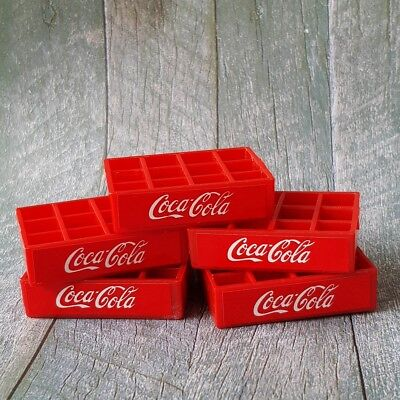 1x COCA-COLA COKE Crate Tray Dollhouse Miniature Vintage Wholesale Mini Set New