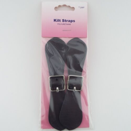 Hemline Pk2 Kilt Straps Inc Adjustable Buckle Faux Leather Pair Skirt BUY 1 2