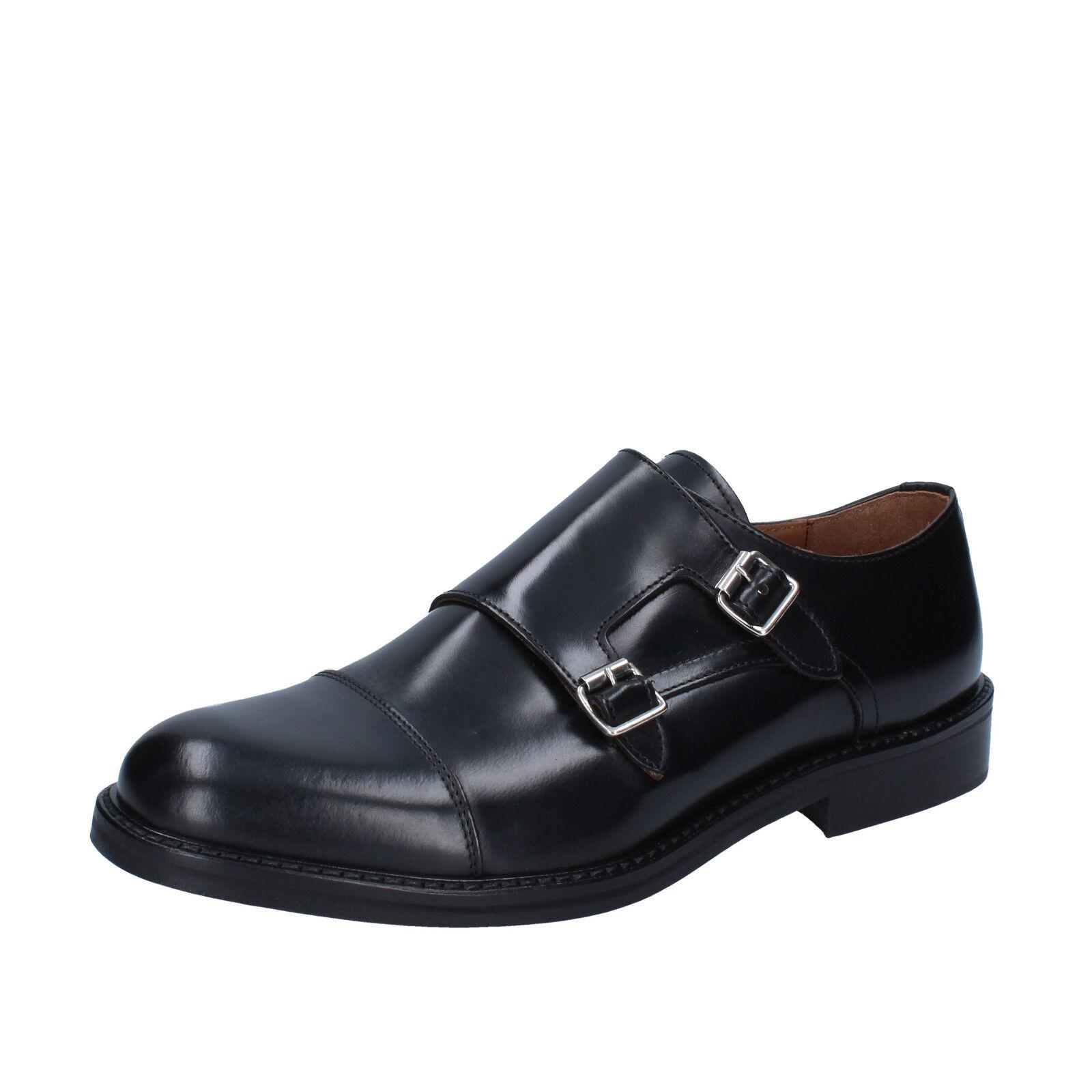 Herren schuhe RUE 51 45 EU elegante black leder BZ650-F