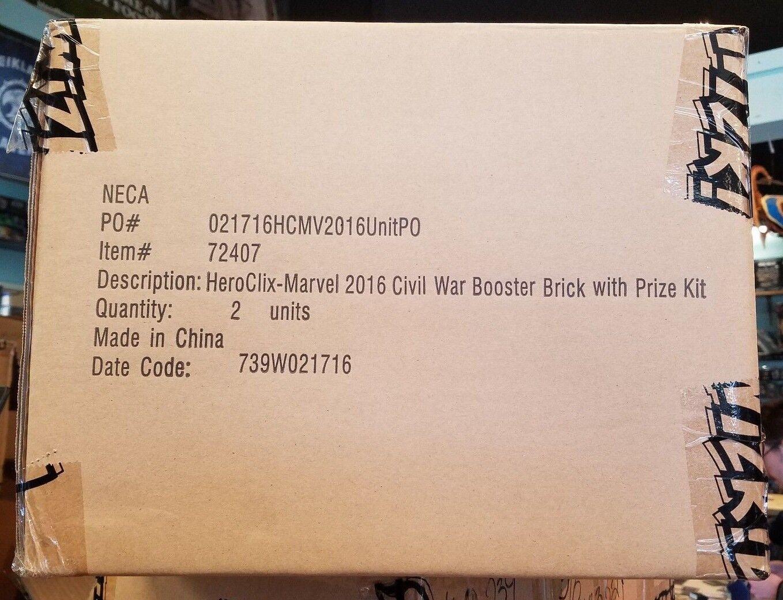 Heroclix Guerra Civil OP de Marvel Case-totalmente Nuevo