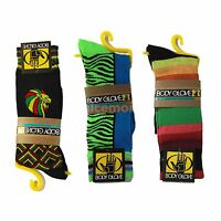 1 Pair Casual Crew Socks Multiple Colors Body Glove Hip Hop Rasta Sz 10-13