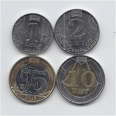Moldova 2018 Full set 7 coins  standard circulation