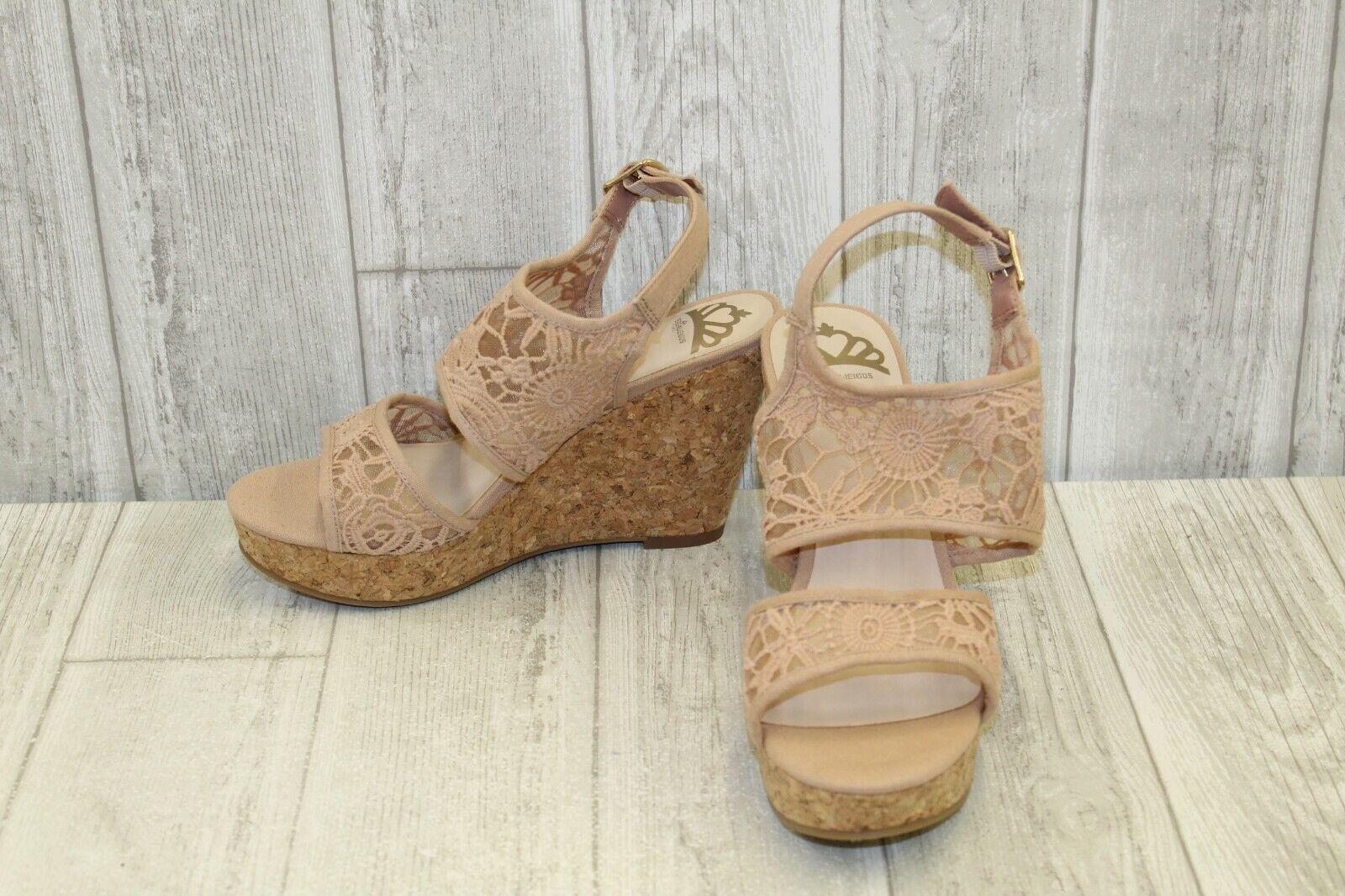 Fergalicious Krazy Wedge Sandal - Women's Size 9M - bluesh
