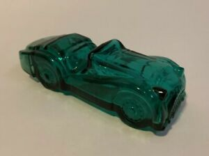 Vintage-Avon-Green-Car-Decanter-Spicy-After-Shave-Glass-Bottle-Empty