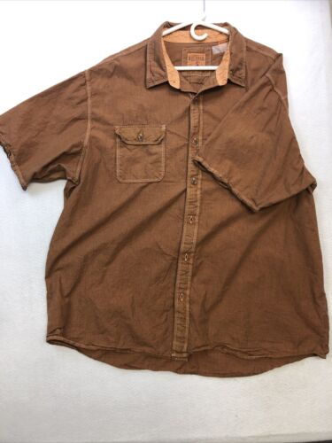 Red Head Mens Shirt  2XL Short Sleeved Brown Rust