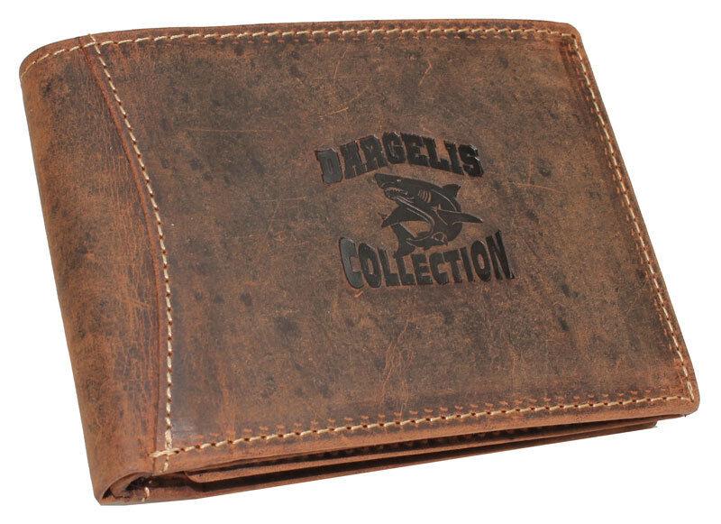 Vintage Leder Herren Geldbörse Geldbeutel Querbörse rustikales Rindleder