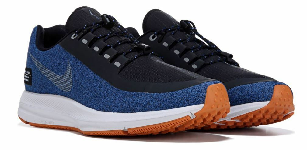 NIKE Men's ZOOM WINFLO 5 UTILITY Authentic Running Sneaker shoes blueee Black New