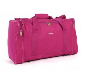 823d5e8102 Womens Girls Pink Sports   Gym Holdall Bag Sports Travel Work School ...
