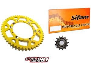 Kit-Chaine-Hyper-Renforce-Jaune-13x49-Suzuki-RMZ-450-2005-a-2017
