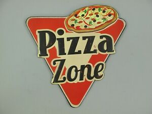 9977733 Mural Tin Sign Vintage Pizza Zone Embossed 31x30cm