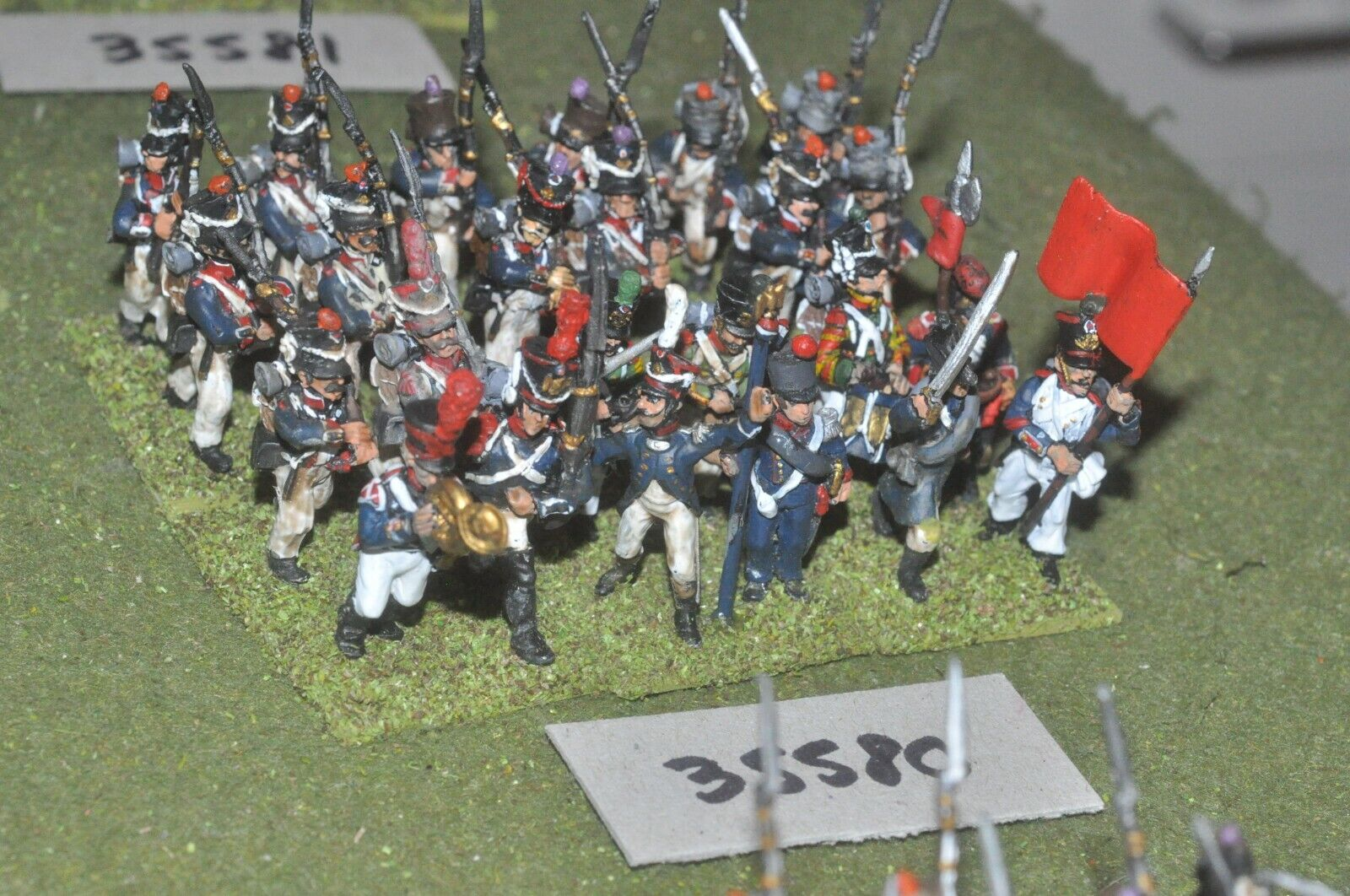25mm napoleonic   french - regiment 24 figures - inf (35580)