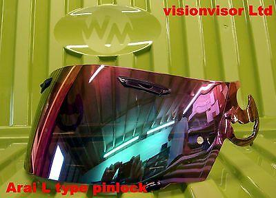Pinlock Gradient L Type Visor Fits Arai Viper GT Profile Chaser Astro  Quantum E