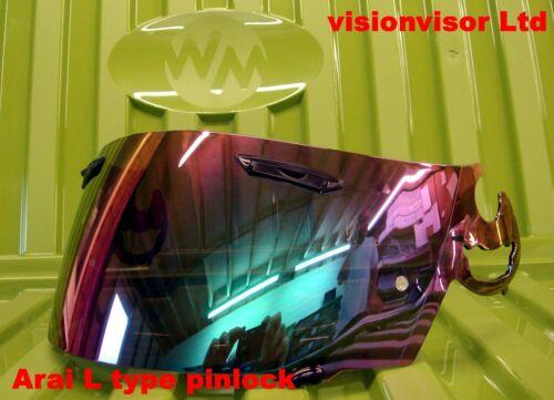 Pinlock iridium Mirror L Type Visor Fits Arai Corsair Chaser Astro Omni Quantum
